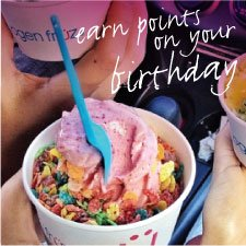 Earn points on your birthday