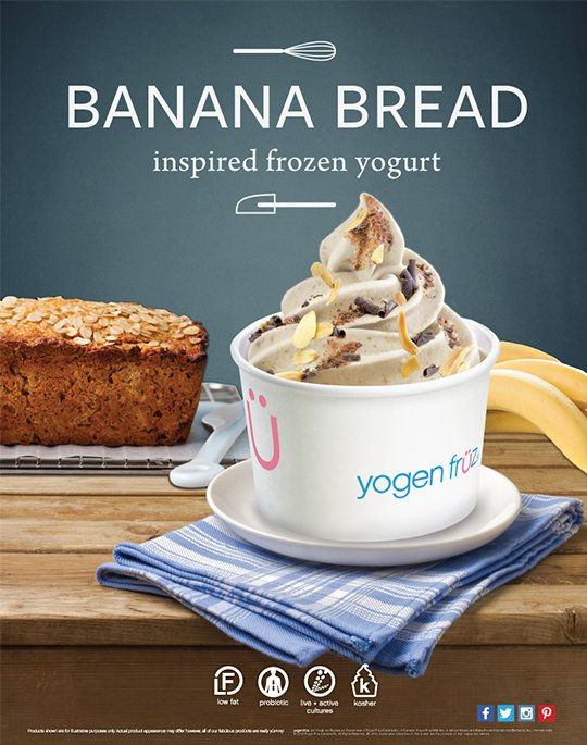 Banana bread inspired frozen yogurt