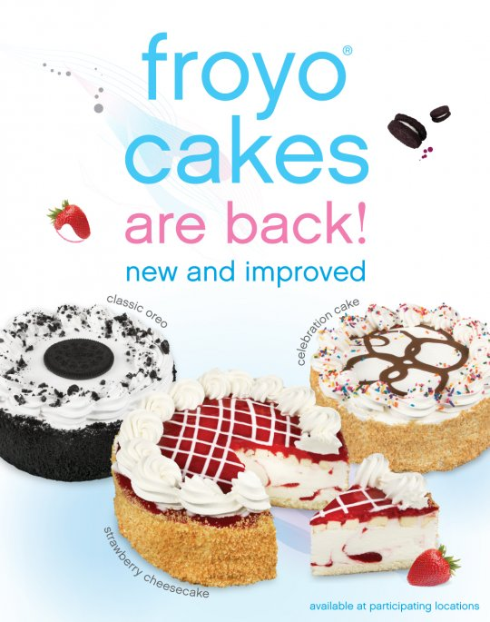 Froyo cakes are back and new and improved