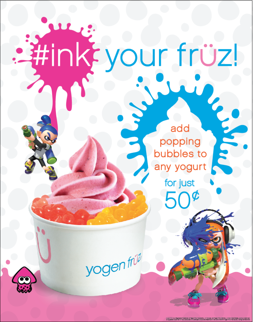 Yogen Früz Splatoon popping bubbles frozen yogurt
