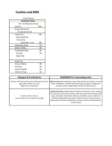 2017 Holiday Soft Serve- Cookies and Millk ice cream- Nutrition Sheet- USA version