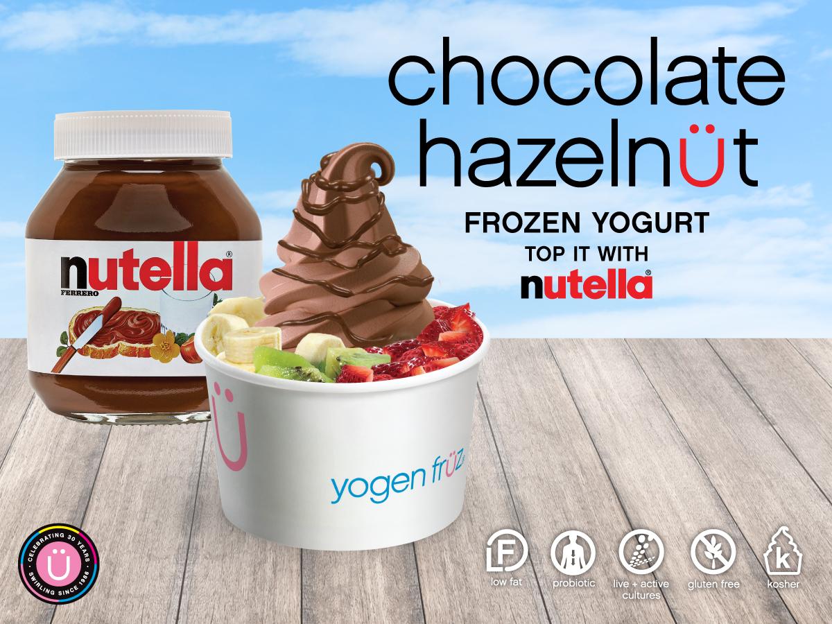 New Nutella 174 Frozen Yogurt Yogen Fr 252 Z Frozen Yogurt